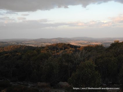 The Strathbogie Tableland to the east of Mt Wombat