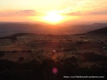 Sunset from Mt Wombat; Kelvin View and the western horizon
